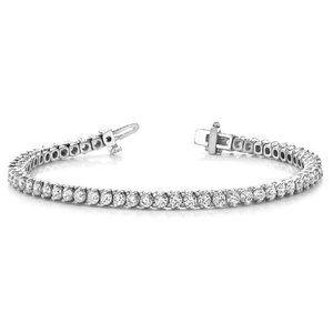 6 Carats round diamond ladies tennis bracelet soli
